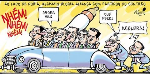 Resultado de imagem para alckmin charges